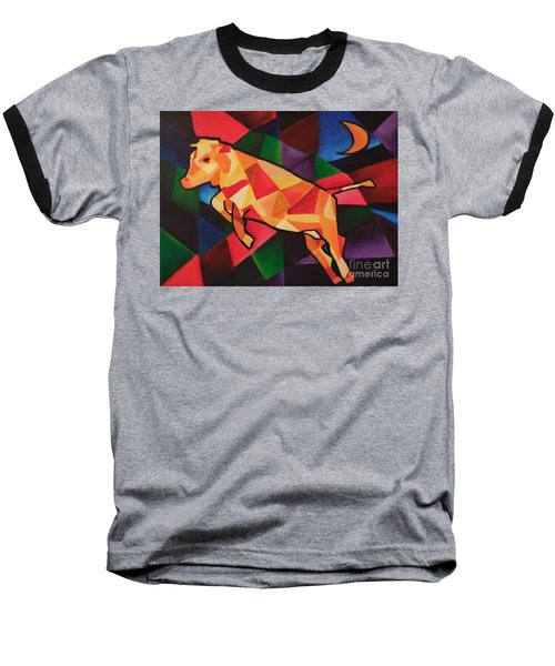 Cubism Cow Baseball T-Shirt