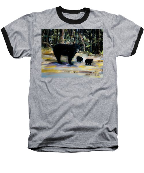Cubs With Momma Bear - Dreamy Version - Black Bears Baseball T-Shirt