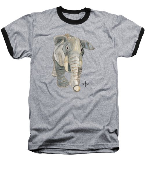 Cuddly Elephant Baseball T-Shirt by Angeles M Pomata