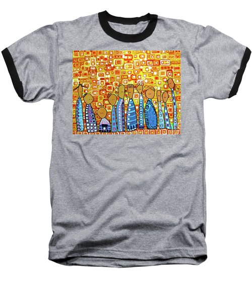 Baseball T-Shirt featuring the painting cue by Donna Howard