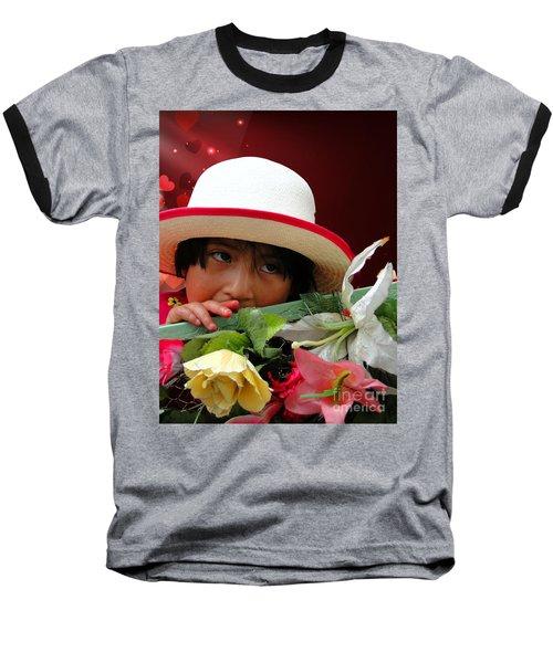 Baseball T-Shirt featuring the photograph Cuenca Kids 887 by Al Bourassa