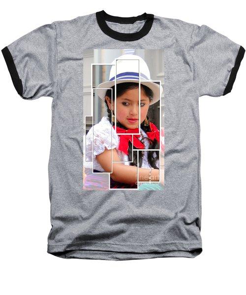 Baseball T-Shirt featuring the photograph Cuenca Kids 890 by Al Bourassa
