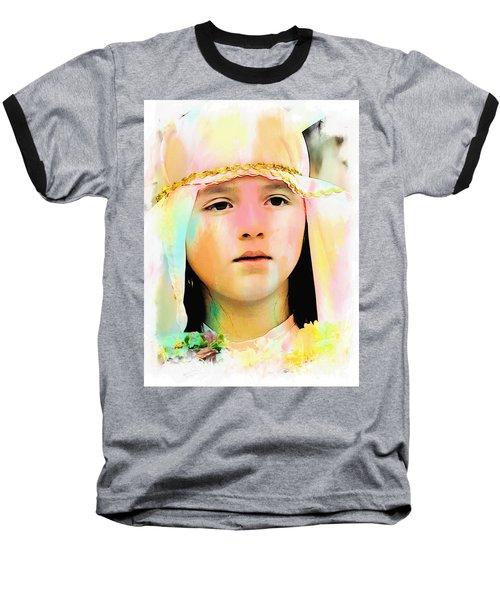 Baseball T-Shirt featuring the photograph Cuenca Kids 899 by Al Bourassa