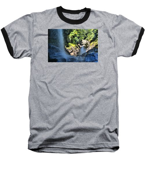 Cullasaja Falls Lookout Baseball T-Shirt by James Potts