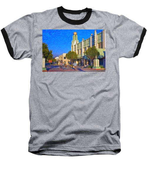 Baseball T-Shirt featuring the photograph Culver City Plaza Theaters   by David Zanzinger