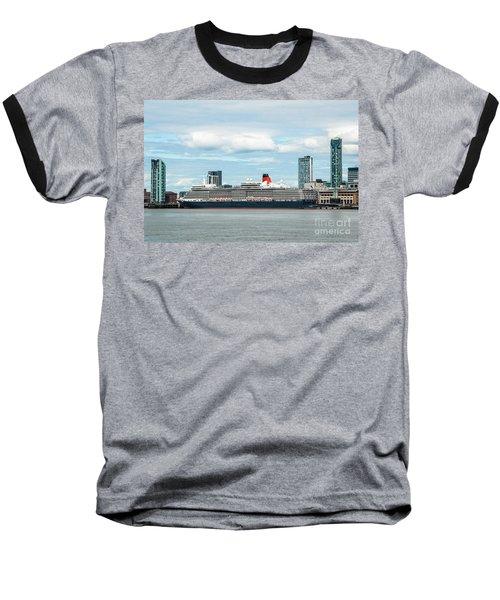 Cunard's Queen Elizabeth At Liverpool Baseball T-Shirt