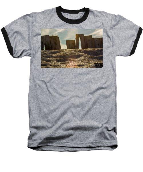 Cunnigar Beach Wooden Barrier Baseball T-Shirt