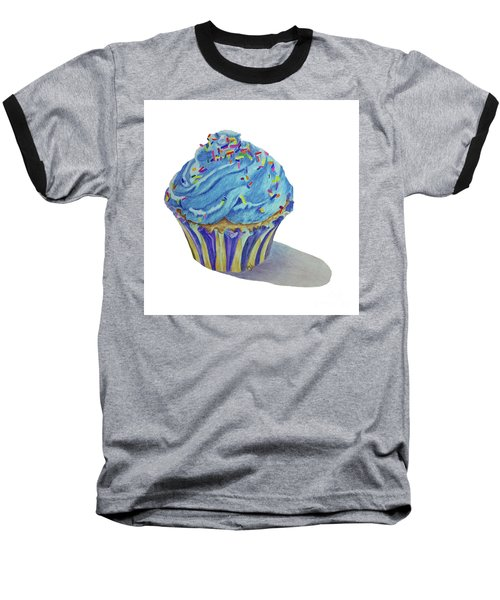 Baseball T-Shirt featuring the drawing Cupcake by Terri Mills