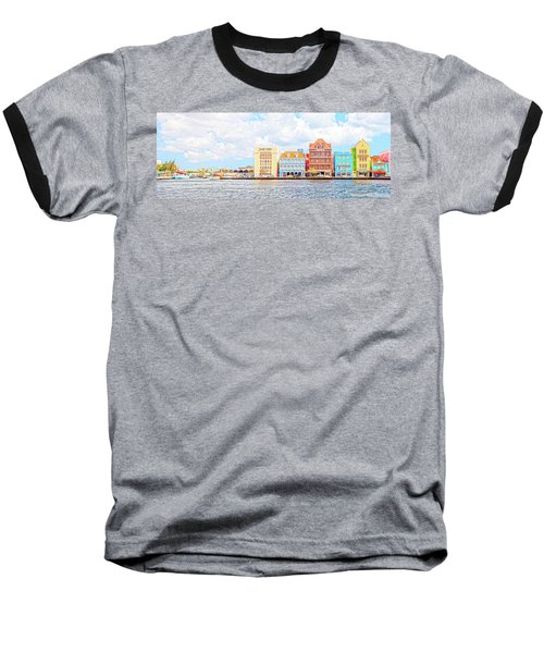 Curacao Awash Baseball T-Shirt by Allen Carroll