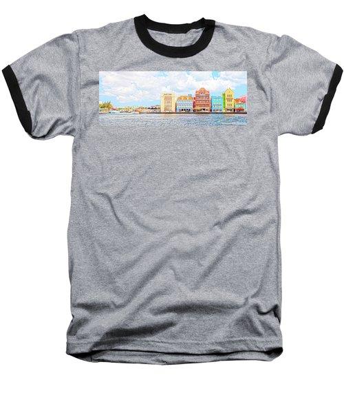 Baseball T-Shirt featuring the photograph Curacao Awash by Allen Carroll