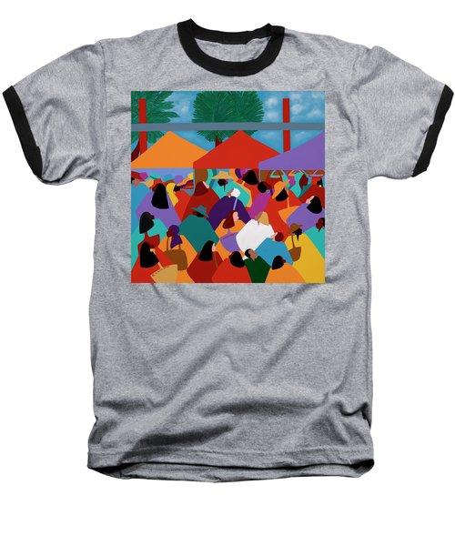 Curacao Market Baseball T-Shirt