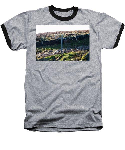 Curbar Edge Which Way To Go Baseball T-Shirt