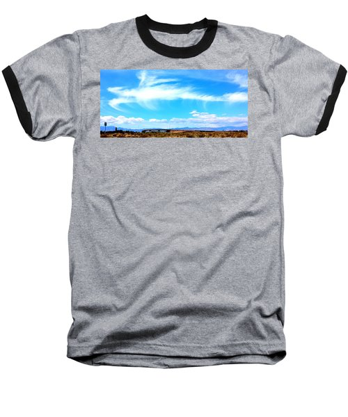 Dragon Cloud Over Suburbia Baseball T-Shirt