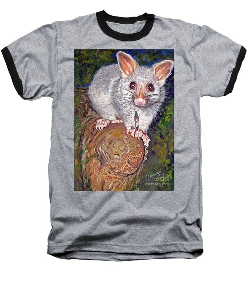 Curious Possum  Baseball T-Shirt