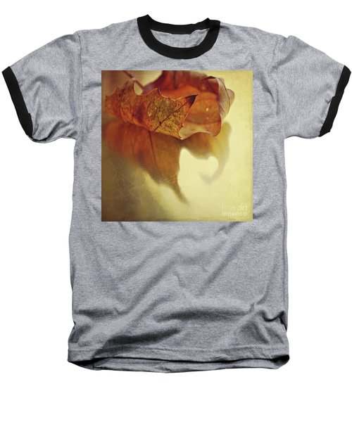 Curled Autumn Leaf Baseball T-Shirt by Lyn Randle