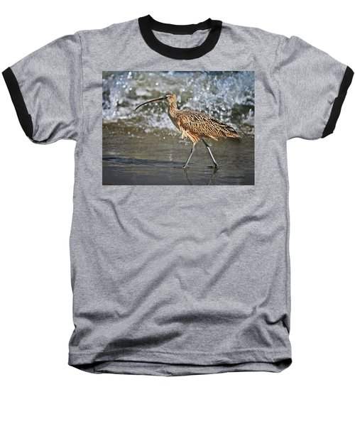 Baseball T-Shirt featuring the photograph Curlew And Tides by William Lee