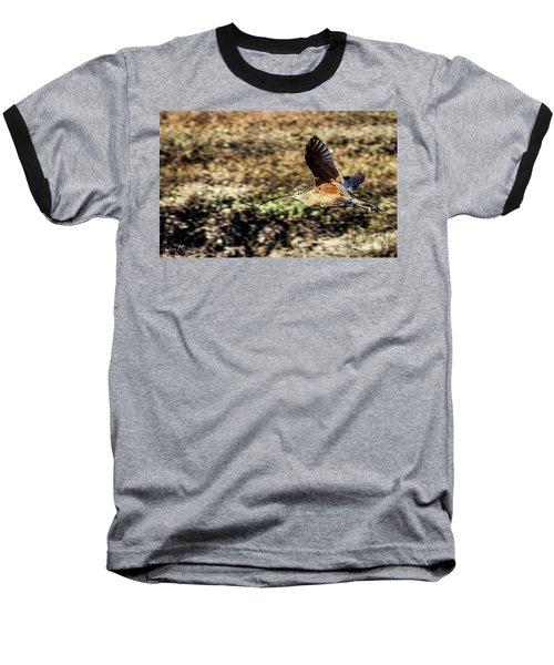 Curlew In Flight Baseball T-Shirt