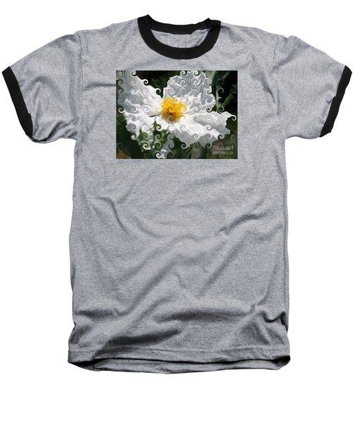 Curlicue Fantasy Bloom Baseball T-Shirt