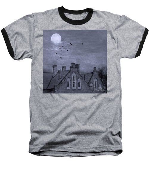 Baseball T-Shirt featuring the photograph Curse Of Manor House by Juli Scalzi