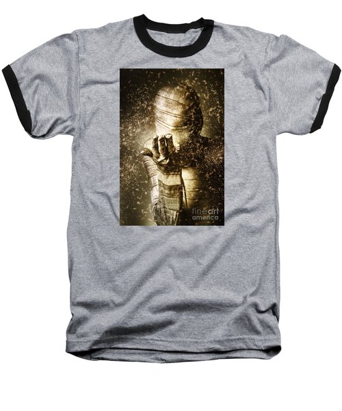 Curse Of The Mummy Baseball T-Shirt by Jorgo Photography - Wall Art Gallery