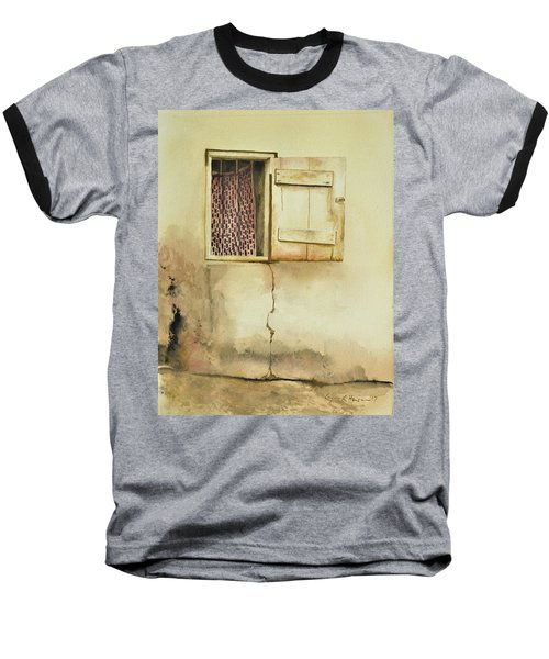 Curtain In Window Baseball T-Shirt