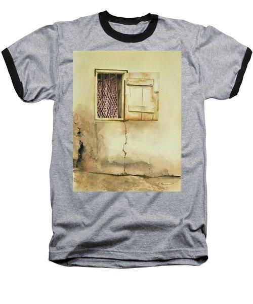 Curtain In Window Baseball T-Shirt