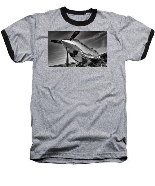 Curtiss P-40c Warhawk Baseball T-Shirt by Ian Merton