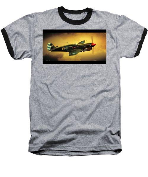 Curtiss P40 C Warhawk Baseball T-Shirt by John Wills