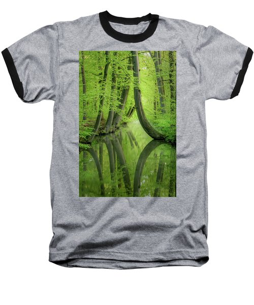 Curved Trees Baseball T-Shirt