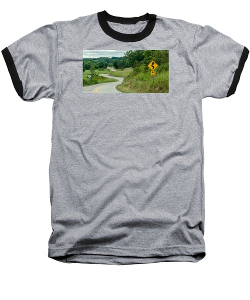 Baseball T-Shirt featuring the photograph Curves by Dan Traun