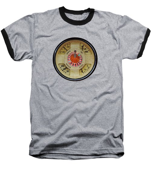 Custom Automobile Instrument With Lucky Roulette Wheel Design  Baseball T-Shirt by Tom Conway