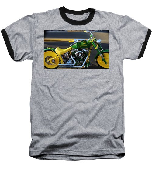 Custom Motorcycle Baseball T-Shirt