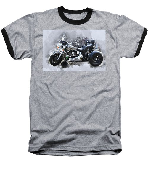 Customized Harley Davidson Baseball T-Shirt