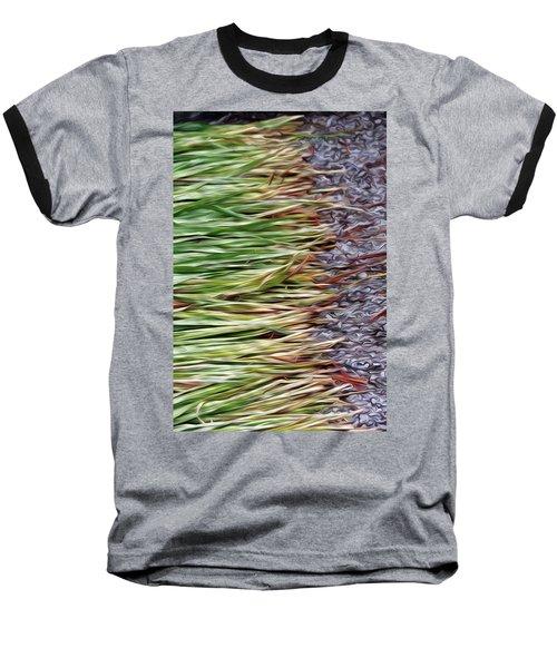 Cut Grass And Pebbles Baseball T-Shirt