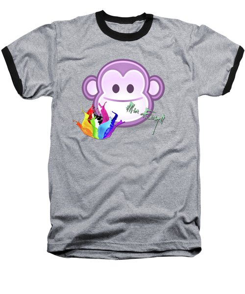 Cute Gorilla Baby Baseball T-Shirt by Maria Astedt