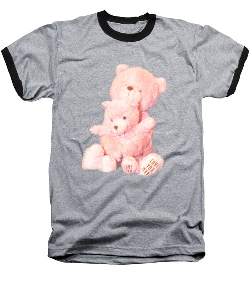 Cutout Hugging Bears Baseball T-Shirt by Linda Phelps