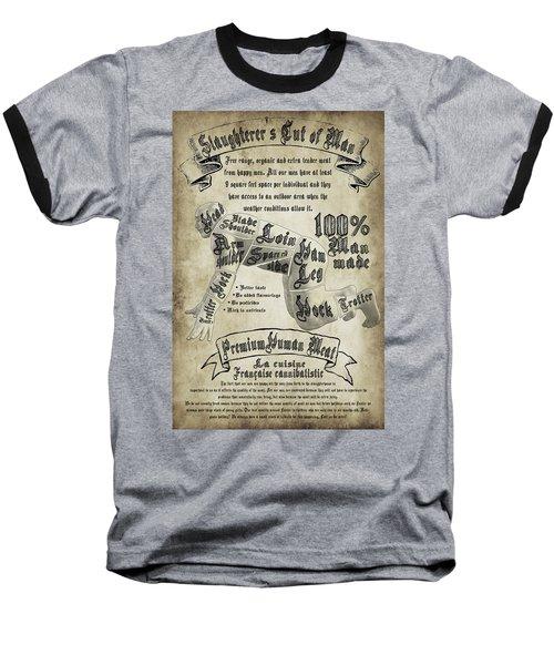 Cutting Human Baseball T-Shirt