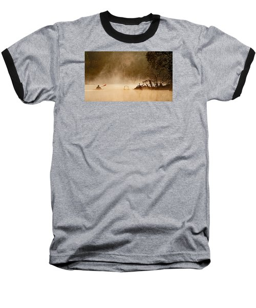 Cutting Through The Mist Baseball T-Shirt by Robert Charity