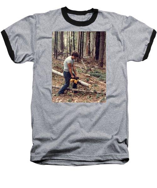 Cutting Wood In Blue Canyon Baseball T-Shirt
