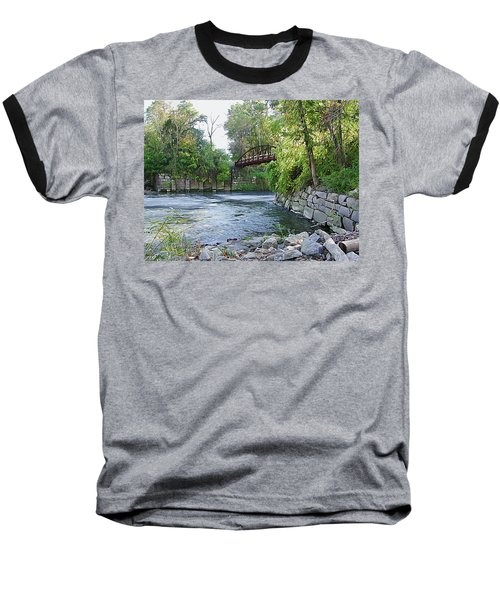 Cuyahoga River At Peninsula Baseball T-Shirt