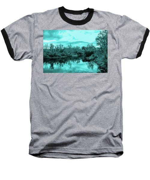Baseball T-Shirt featuring the photograph Cyan Dreaming - Sarasota Pond by Madeline Ellis