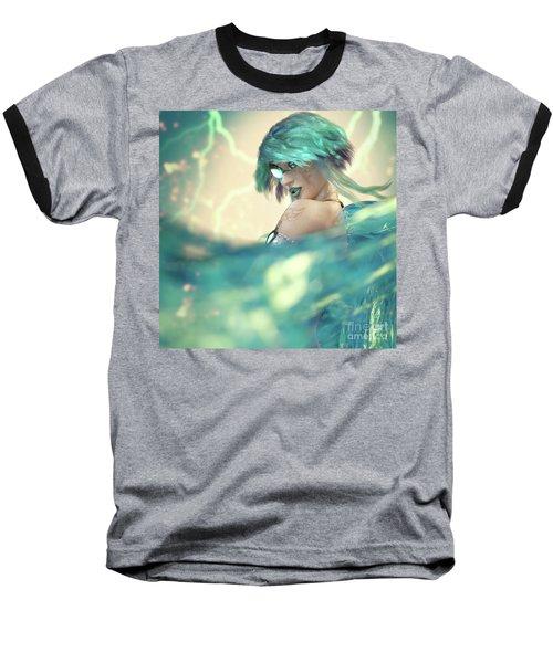 Cyan Baseball T-Shirt