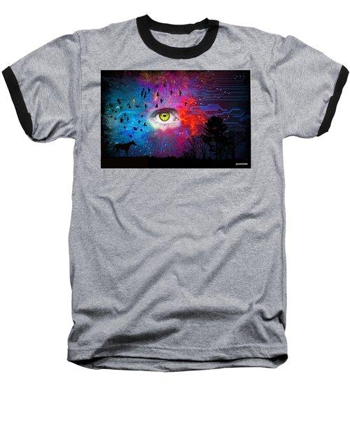 Cyber Nature Baseball T-Shirt