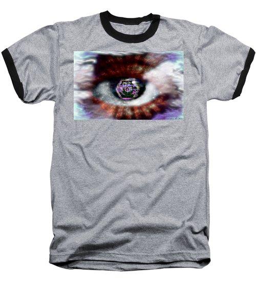 Cyber Oculus Cumulus Baseball T-Shirt by Iowan Stone-Flowers