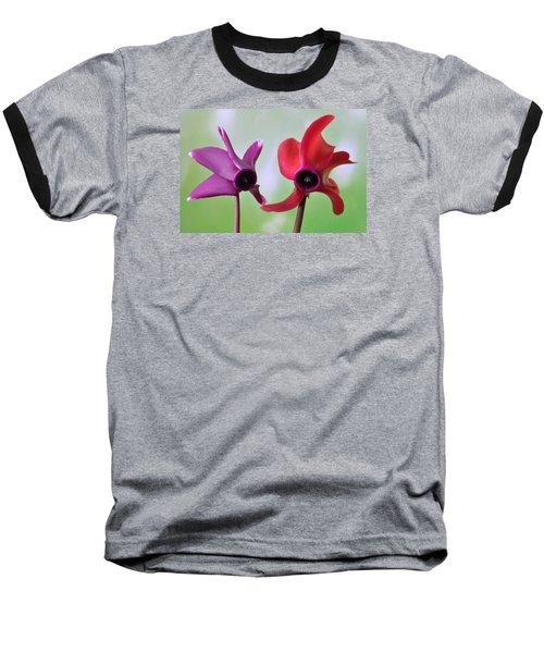 Cyclamen Duet. Baseball T-Shirt