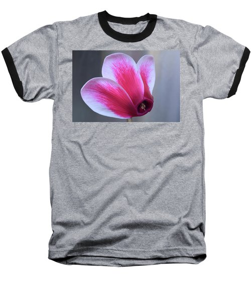 Baseball T-Shirt featuring the photograph Cyclamen Portrait. by Terence Davis