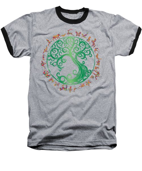 Cycle Of Life Baseball T-Shirt by Martinus Sumbaji