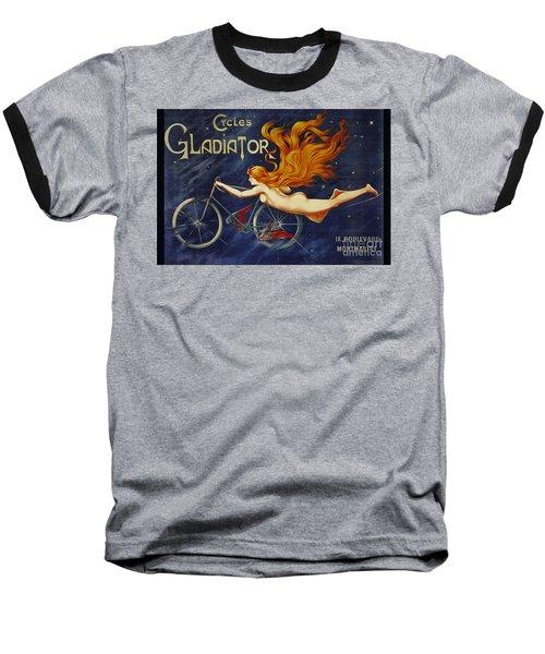 Cycles Gladiator  Vintage Cycling Poster Baseball T-Shirt