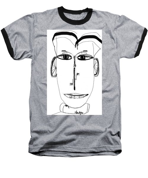 Cyclist Baseball T-Shirt by Sladjana Lazarevic