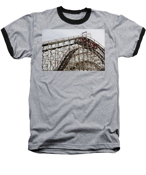 Cyclone Roller Coaster Coney Island Ny Baseball T-Shirt